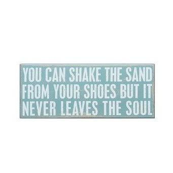 BOX SIGN - you can shake the sand