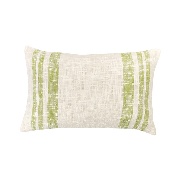 Slub Striped Pillow Green