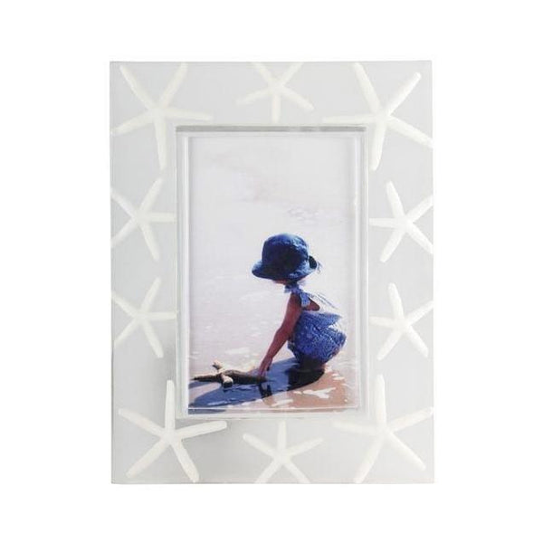 White starfish photo pictures frame for vacation memories at FantaSea Coastal Home beach house decor