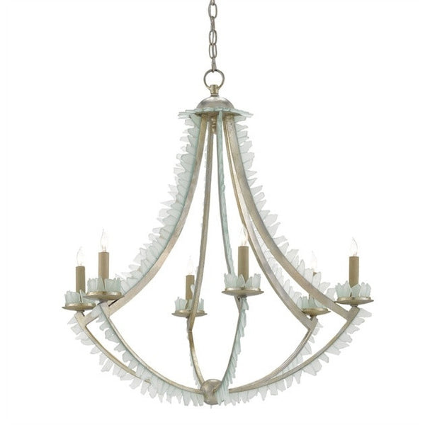 Currey & Company Sea Glass Saltwater Chandelier Lighting at FantaSea Coastal Home beach house decor