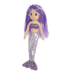 Amethyst purple shimmery mermaid girls childrens kids toy doll at FantaSea Coastal Home beach house decor