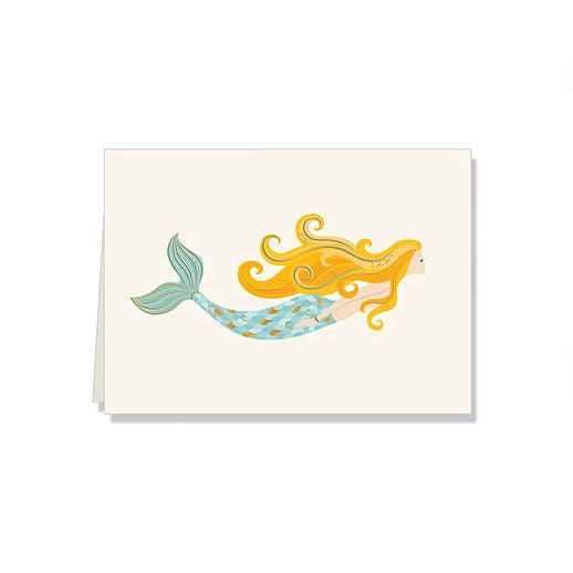 Mermaid boxed thank you gift note cards at FantaSea Coastal Home beach house decor