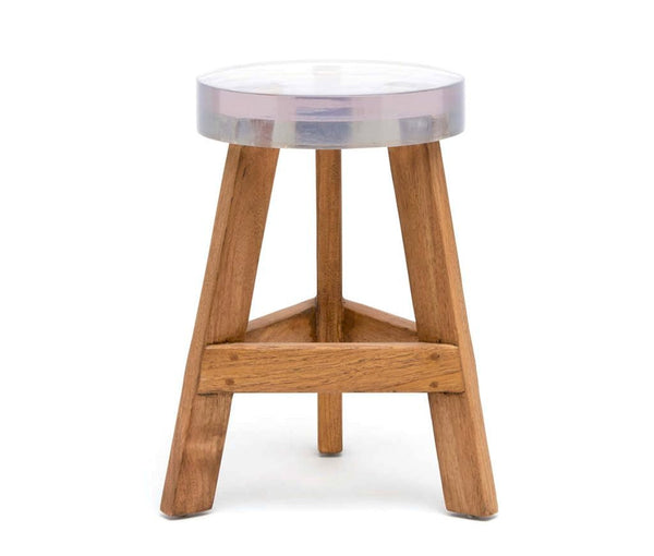Made Goods Resin & Wood stools at FantaSea Coastal Home beach house decor