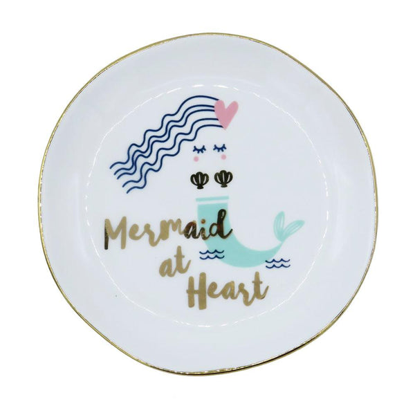 Mermaid at Heart Round Trinket Dish at FantaSea Coastal Home beach house decor