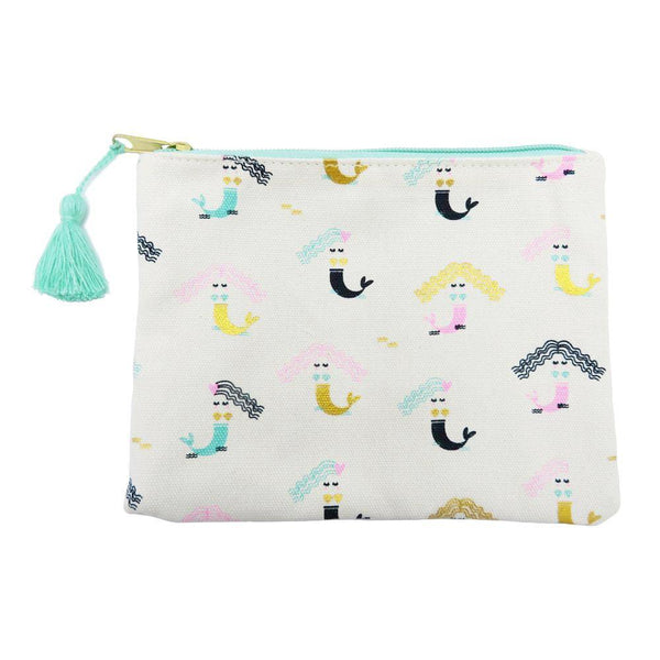 Mermaids Zipper Pouch for make up at FantaSea Coastal Home beach house decor