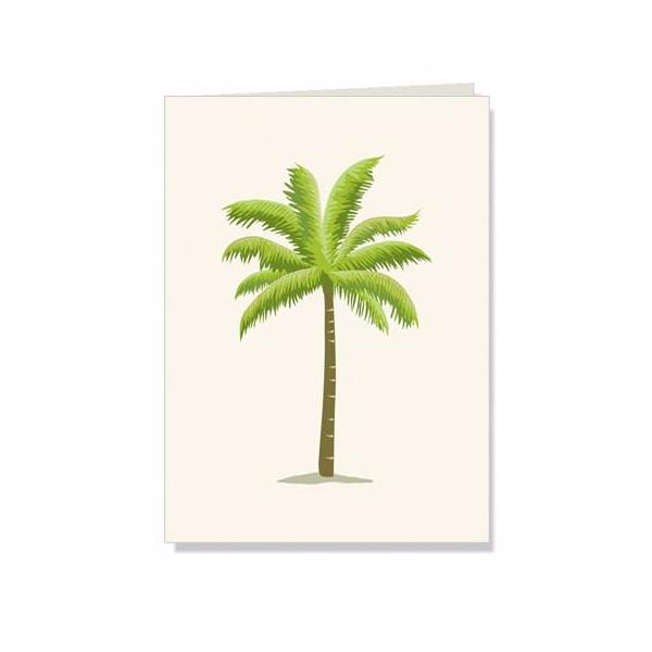 Green palm tree boxed thank you gift note cards at FantaSea Coastal Home beach house decor