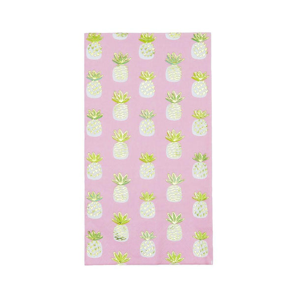 Paper guest hand towels with pineapples at FantaSea Coastal Home beach house decor