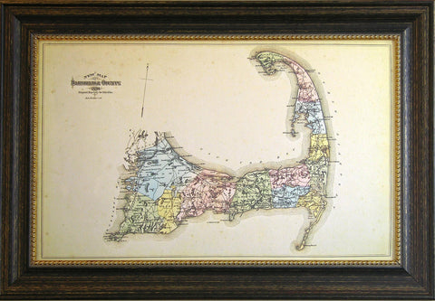 NEW MAP OF BARNSTABLE COUNTY