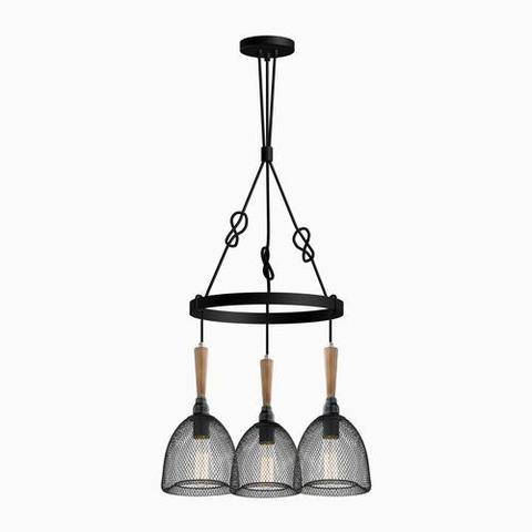 ULEXTRA P432 3SB BK – 3 LIGHT PENDANT