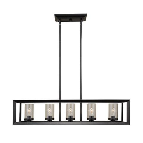 RUSSELL 411-641 ST/BLK - 5 LIGHT CHANDELIER