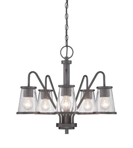 DESIGNERS FOUNTAIN 87085 WI - 5 LIGHT WEATHERED IRON CHANDELIER