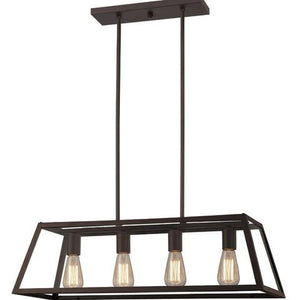 CANARM ICH480A04ORB30 - 4 LIGHT OIL RUBBED BRONZE CHANDELIER