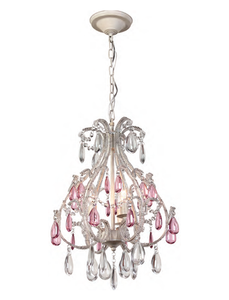 AVISTA A9053AWP - 3 LIGHT ANTIQUE WHITE CHANDELIER