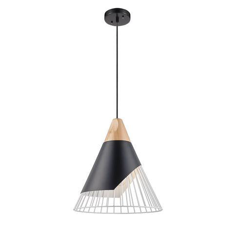 ULEXTRA P470 12 BK - SINGLE BLACK & WOOD PENDANT