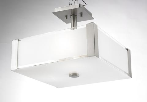 LEVICO LVB3714S CH - 3 LIGHT CHROME SEMI FLUSH