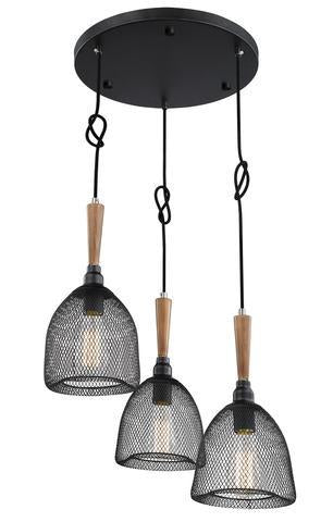 ULEXTRA P432 3SA BK - 3 LIGHT PENDANT