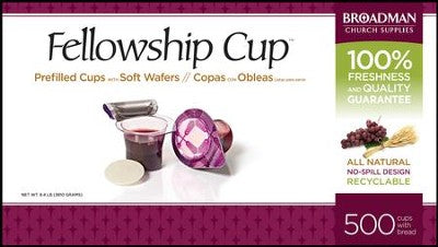 Fellowship Cup Prefilled Communion Juice Cups and Wafers, Box of 500