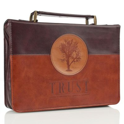Forro de Biblia - BC LL Trust Tree Brown Jer 17.7-8 Md