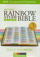 Rainbow Study Bible NIV, Black LeatherTouch, Thumb-Indexed
