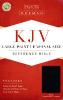 Bible Large Print Personal Size Reference KJV, Black LeatherTouch, Thumb-Indexed