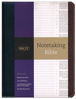 Notetaking Bible Bonded Leather NKJV, Black/Brown
