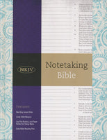 Notetaking Bible NKJV, Blue Floral Cloth