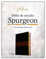 RVR 1960 Biblia de Estudio Spurgeon - Negro/Marron Simil Piel