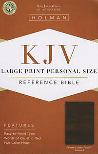 Bible Large Print Personal Size Reference KJV, Black LeatherTouch