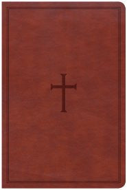 Bible Large Print Personal Size Reference CSB, Brown LeatherTouch, Indexed