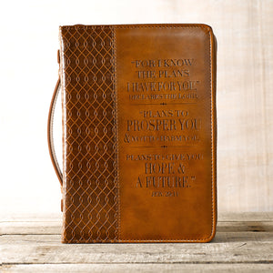 Brown LL Bible Cover Plans Jer 29.1- Forro de Biblia