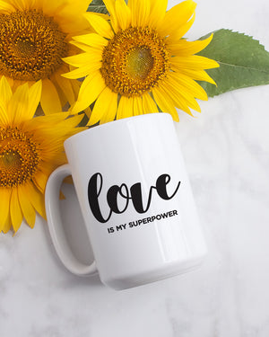Love Superpower: 15oz. Coffee Mug - Love Tee