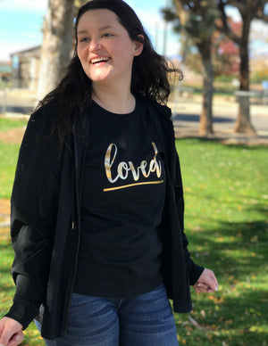 Loved (ft. Gold Foil) - Women's T-Shirt - Love Tee