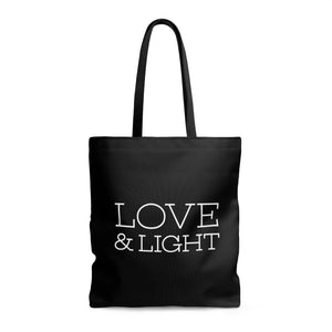 Love & Light - Oversized Tote - Black - Love Tee