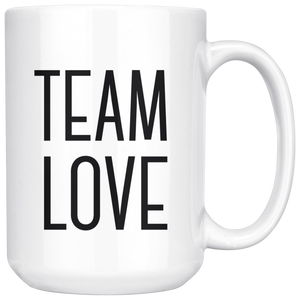 (CLOSEOUT) Team Love: 15oz. Coffee Mug - Love Tee