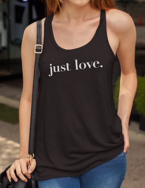 Just Love - Women's Racerback Tank Top - Love Tee
