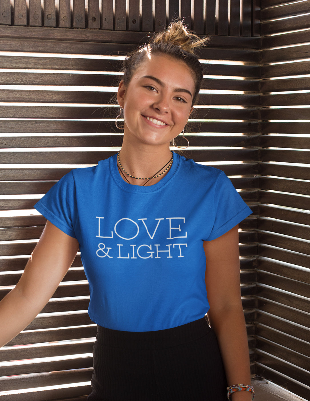 Love & Light - Women's T-Shirt - Sapphire Blue - Love Tee