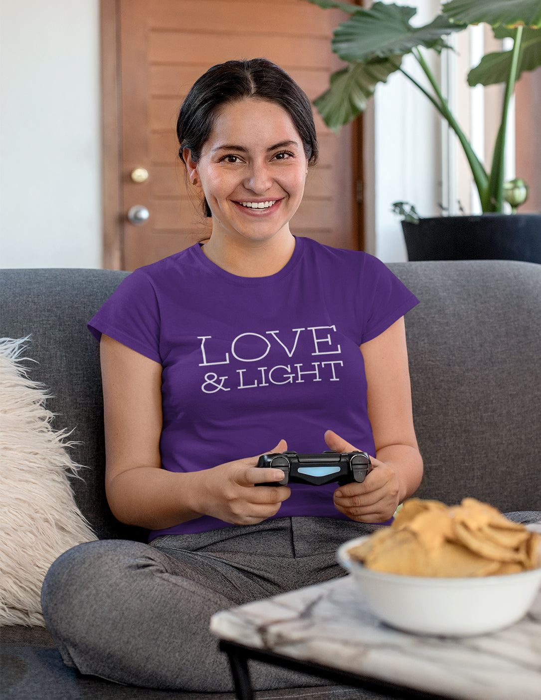 Love & Light - Women's T-Shirt - Purple