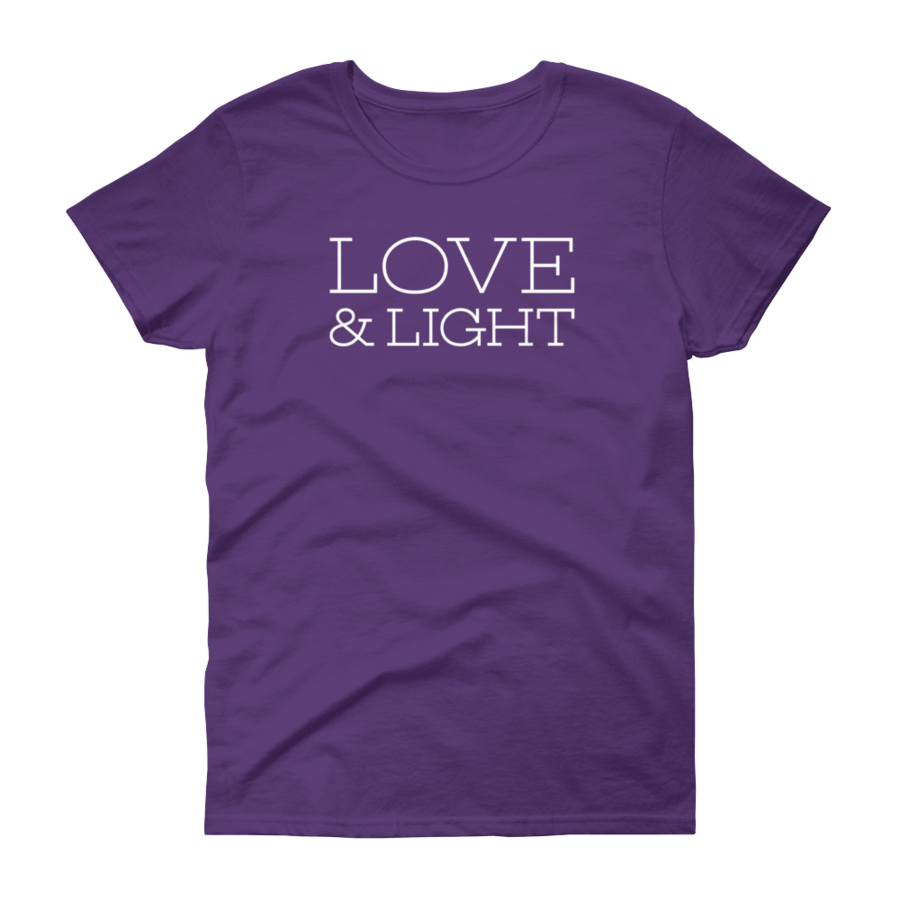 Love & Light - Women's T-Shirt - Purple - Love Tee