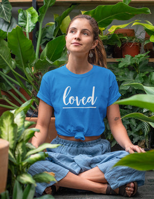 Loved - Women's T-Shirt - Sapphire Blue - Love Tee