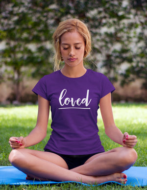 Loved - Women's T-Shirt - Purple - Love Tee