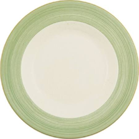 Steelite Rio Green Slimline Plates 255mm - V2875 (Box of 24)