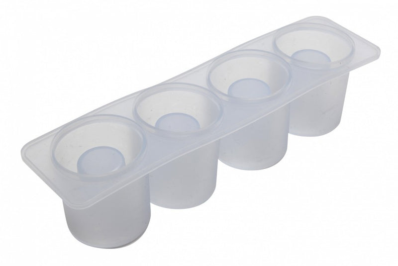 4 Cavity Silicone Shot Glass Mould - Clear