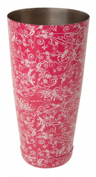 28 fl oz Boston Can PINK Floral Design