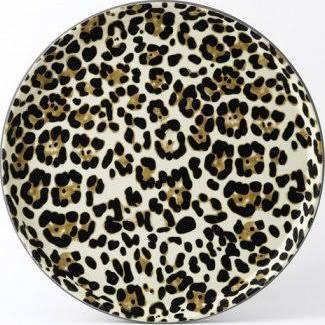 Drinkstuff Leopard Print Round Tray 35.5cm (Box of 12)