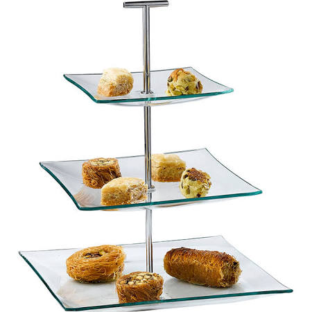 Artis 3 Tier Glass Cake Stand