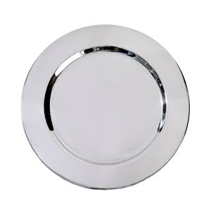 Artis Polished Stainless Steel Charger Plate 33cm Large Round Dish