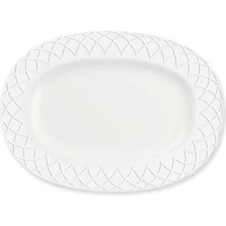 Churchill Alchemy Jardin Rimmed Oval Dishes 330mm Y622 (Box of 6)