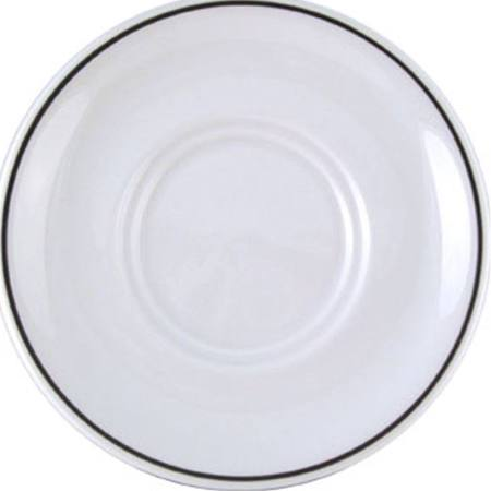 Churchill Black Line Maple Large Saucers - P681 (Box of 24)