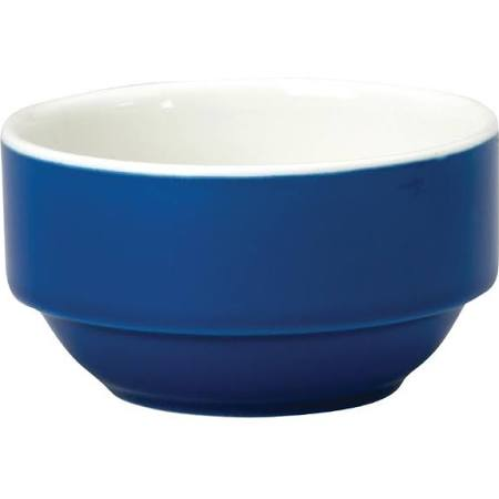 Churchill New Horizons Colour Glaze Consomme Bowls Blue 105mm M827 (Box of 24)