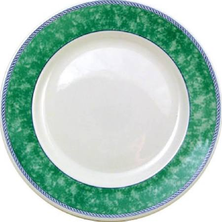 Churchill New Horizons Marble Border Classic Plates Green 165mm - M773 (Box of 24)